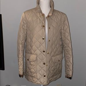 Burberry Quilted Jacket Tan Large